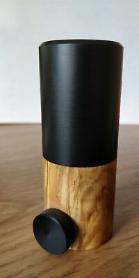 Premium Quality Highland Bagpipe Chanter Reed Protector with an Olivewood inset