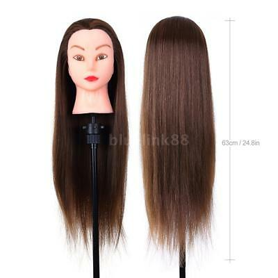 "24"" Hair Practice Training Head Mannequin Hairdressing Doll + Clamp Tripod"