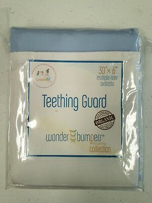 "Wonder Bumpers Go Mama Go Teething Guard  blue  and White  30"" x 6""  Brand New"