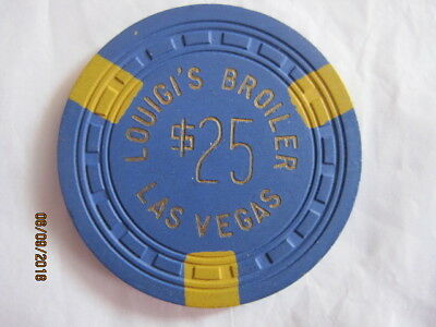 $25 Louigi's Broiler Las vegas Casino Chip
