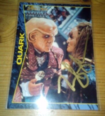 Star Trek  Ds9 Profiles Series From Skybox Signed Card Of Quark Card 72