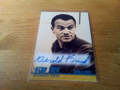 Star Trek The Original Series Portfolio Prints Autograph Card Of Gerald Fried