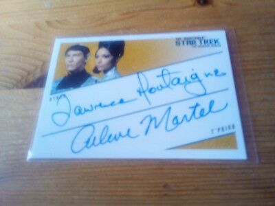 Star Trek Autograph The Original Series Quotable Card Of Montaigne & Martel Dqa2