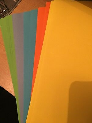 50 Sheets A4 80gsm Coloured Paper BRIGHT MIX colours - Ideal for art crafts