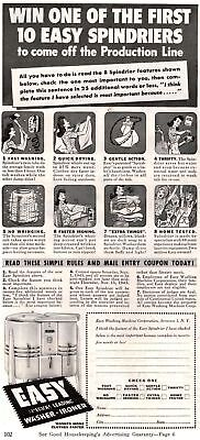 1945 Good Housekeeping Magazine Advertisement Easy Spindriers 1 Page AD 304