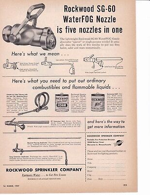 Rockwood Sg 60 Apn  Is Five In One Nozzle     1957  Ad       7109