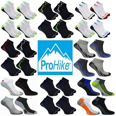 Mens Prohike Active Cushioned Trainer Sports Socks, Various Colours, Size 6-11