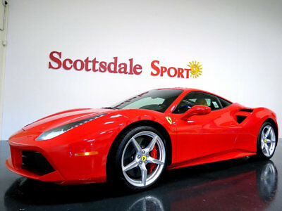 Ferrari 488 GTB * ONLY 92 Miles...As New! 2017 FERRARI 488 GTB w ONLY 92 MILES!! * ROSSO CORSA-BEIGE * LOADED * AS NEW!!