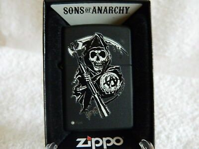 """Zippo        """""""" Son's Of Anarchy """"""""     Motorcycle Club    Grim Reaper"""