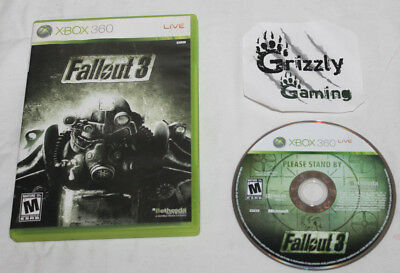 USED Fallout 3 Microsoft XBOX 360 (NTSC) Tested and Working!
