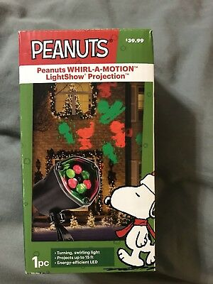 Peanuts Christmas Whirl A Motion Lightshow Outdoor Projection Light Projector