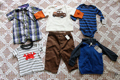 Baby Boy Size 3M, 3-6M, and 6-9M 10 Piece Clothing Lot Carter's New Balance