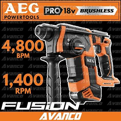 AEG 18V FUSION Brushless SDS+ Rotary Hammer Drill Skin Driver Impact BRAND NEW