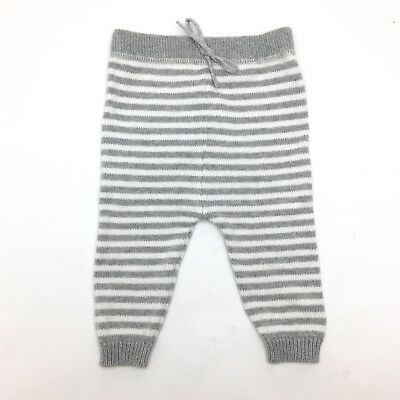 Target Baby Knitted Cotton Pants 00 3-6 months Grey Stripe Boys Girls