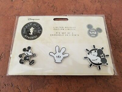 New Lot of 3 Disney Store Mickey Mouse Memories Series 1 Disney Trading Pins