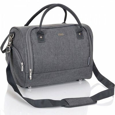 LCP Baby Changing Bag Diaper Carry Handle - Waterproof - Stroller Fix, Grey