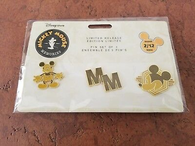 New Lot of 3 Disney Store Mickey Mouse Memories Series 2 Disney Trading Pins