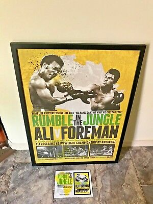 Muhammad Ali V George Foreman Rumble In The Jungle Boxing Official Print Framed