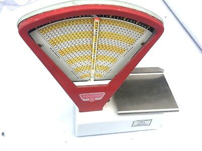 Vintage Toledo Model  3111 Candy Counter 2lb Scale  Free Fast Shipping