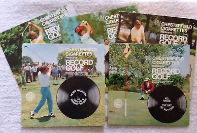 Chesterfield Cigarettes Presents Record Golf x5 c1960s Vintage Records Golf Inst