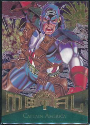 1995 Marvel Metal Trading Card #11 Captain America