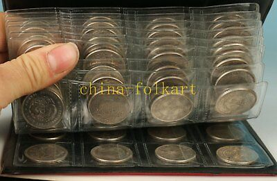 120 Piece Qing Dynasty Iron Plating Silver Old Coin Statue Rare