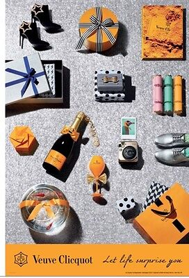 "Veuve Clicquot ""Let life surprise you"" poster  24 by 36 new"