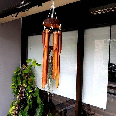 SMALL BAMBOO TUB Plain Antique Wind Chime Decor Home Hanging Nature Sounds