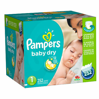 Pampers Baby-Dry Diapers Size 1 252 Count