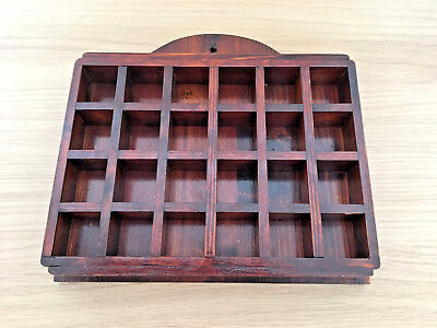 Wooden Thimble Display Rack / Holder Holds 24 Thimbles, Wall Mountable