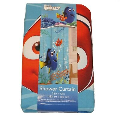 New Disney Pixar Finding Dory Shower Curtain 72x 72 Kids Bathroom
