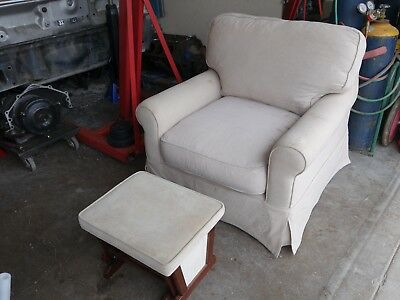 Nursery Rocking Gliding Chair And Ottoman - Sofa,Couch, (No Shipping)