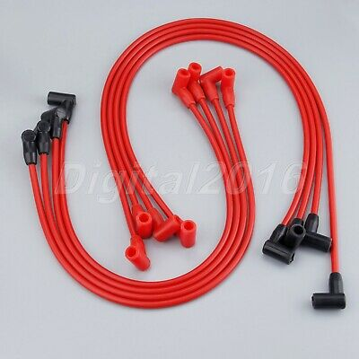 SMALL BLOCK CHEVY RED HEI Spark Plug Wires Over Valve Covers 265305327350400