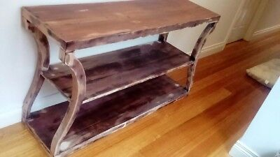 Rustic Mahogany timber Console Table - Very Good Condition