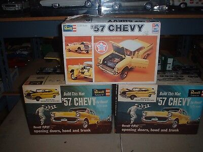 vintage Revell 1957 Chevy Bel air mega junkyard parts rebuilders kit bashing lot
