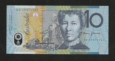 aUNC 2015 AA $10 First Prefix - AA15 871237 - Excellent Condition Banknote