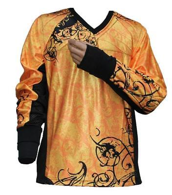 "Tournament Paintball Jersey XL ""Ghost"" Größe Orange Gotcha Shirt Oberteil Trikot"