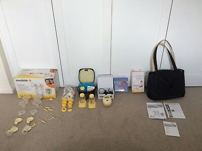 Medela Freestyle Double Electric Breast Pump & Hands Free Bra & Breast Therapy