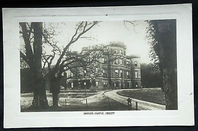 Old Real Photo Postcard - Monzie Castle, Crieff, Perthshire, Scotland - 1925