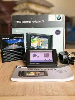 BMW MOTORRAD NAVIGATOR IV (SAT NAV) CASE & ACCESSORIES VGC & Good Working Order