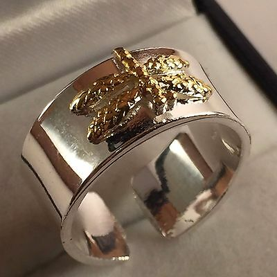 Dragon Fly 925 Silver Hallmark  Ring Size 7 Us