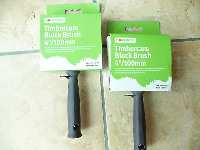 """Job lot of 2 x 4"""" (100mm)quality Homebase timber care """"block"""" brushes.New."""