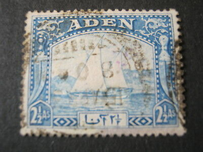 ADEN  1937  2 1/2a  BRIGHT BLUE  SG 5  USED