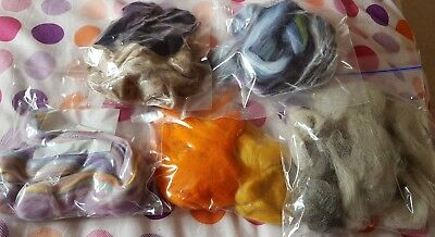 100g Wool Roving Natural, Needle felting. Colours and types vary