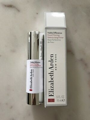 Elizabeth Arden Visible Difference Good Morning  Retexturizing Primer 15 ml New
