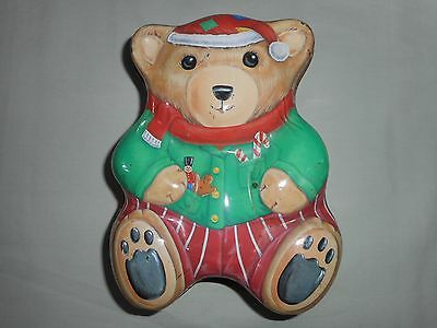 Teddy Biscuit Tin '' Christmas 98 ''