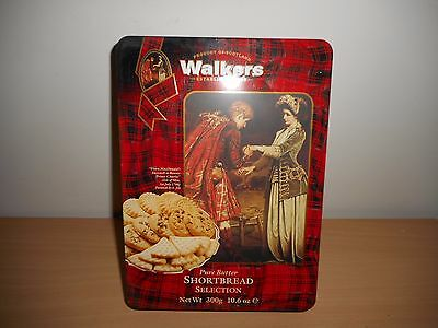 Walkers Shortbread Selection Biscuit Tin '' Farewell '' Use By 30/06/1997