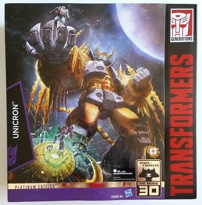 Transformers Platinum Edition Unicron Sealed (non mint box) Limited free post