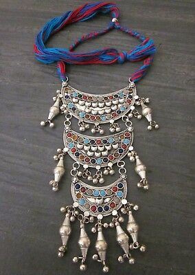 Artisan Handcrafted Fashion Jewelry Tribal Boho Vintage Silver Afghan Style