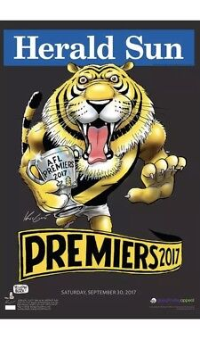 2017 Richmond Tigers Premiership Poster Limited Edition #239 Black Mark Knight